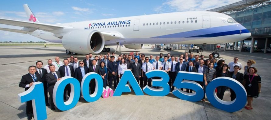 Airbus delivers 100th A350XWB