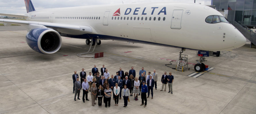 Delta takes delivery of first North American A350-900